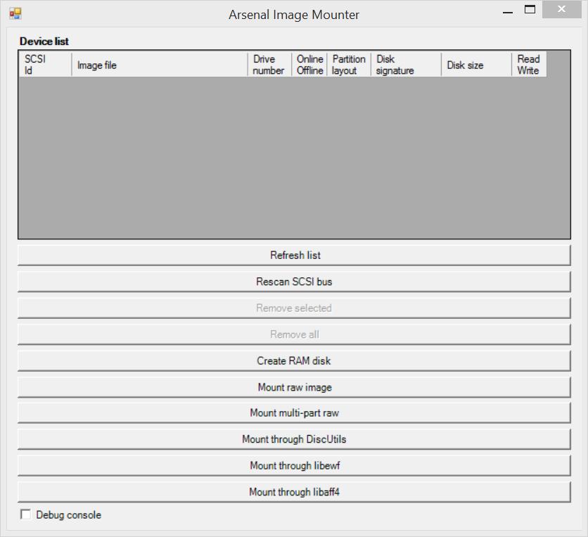 Arsenal image Mounter (AIM) - ImDisk - reboot pro